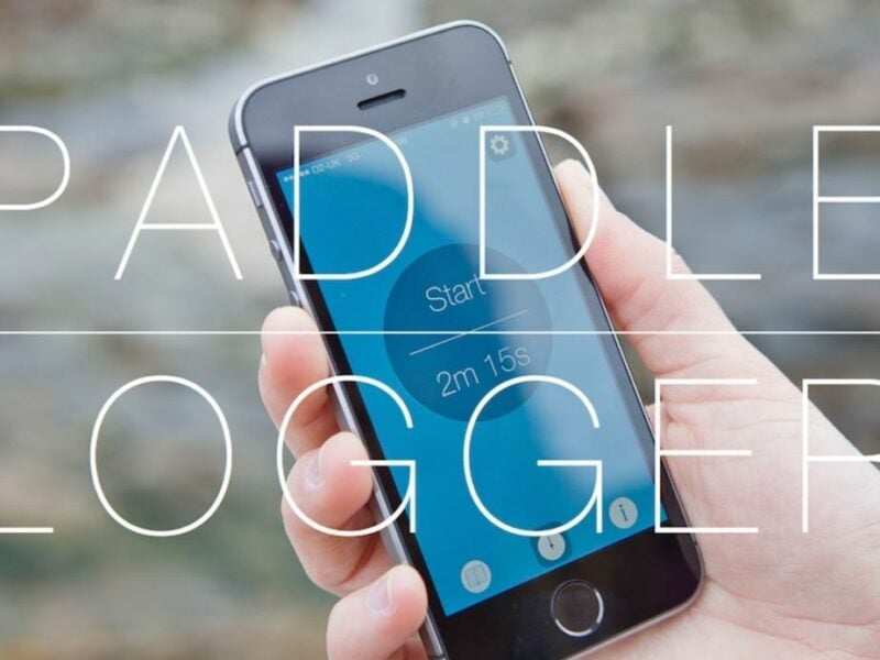 Promotional image for Paddle Logger app