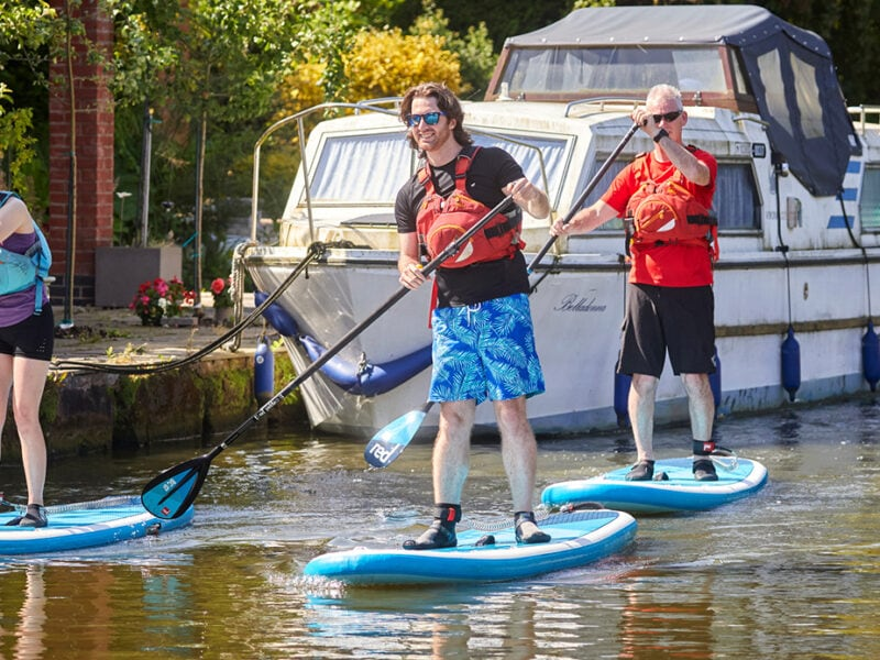 Paddle boarders with licences